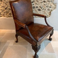 William IV Mahogany Gainsborough Library Armchair