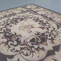 Square Aubusson rug