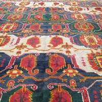Striking c.1940 Beshir rug