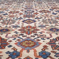 Striking 19th century Heriz carpet