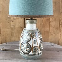 mid century lamp with shade