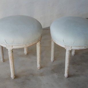 Excellent pair of Swedish Gustavian stools