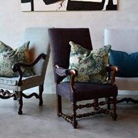 set of 'os de mouton' armchairs