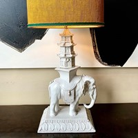 exceptional ceramic lamp 'Indochine' style