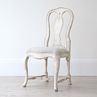 Bespoke Hand Carved Swedish Rococo Dining Chair