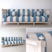 Custom 3m Gustavian Sofa Hand Carved in Stockholm