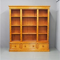 Victorian Satin Birch Open Bookcase
