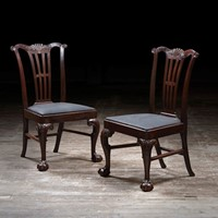 Pair of Dining Chairs Attrib. to Alexander Peter