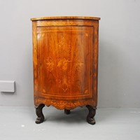 Dutch Walnut and Marquetry Floor Standing Corner C
