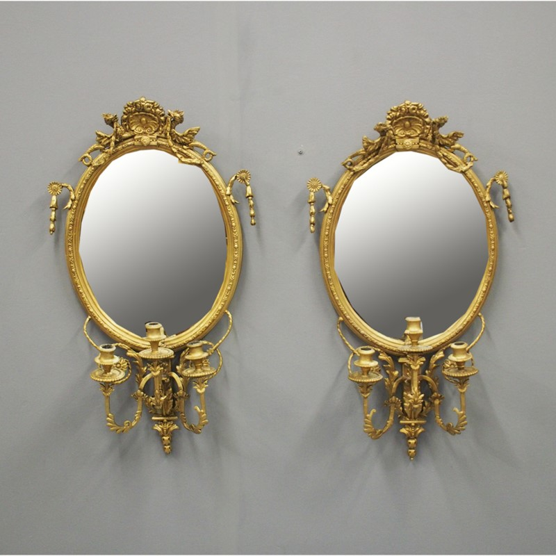 Pair of 19th Century Giltwood and Gesso Girandole -georgian-antiques-1-mirrors-main-637048402831133057.jpg