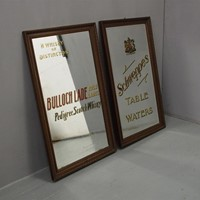 Pair of Pub Advertising Mirrors