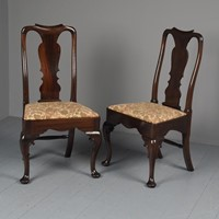 Antique Pair of George I Style Mahogany Side Chair
