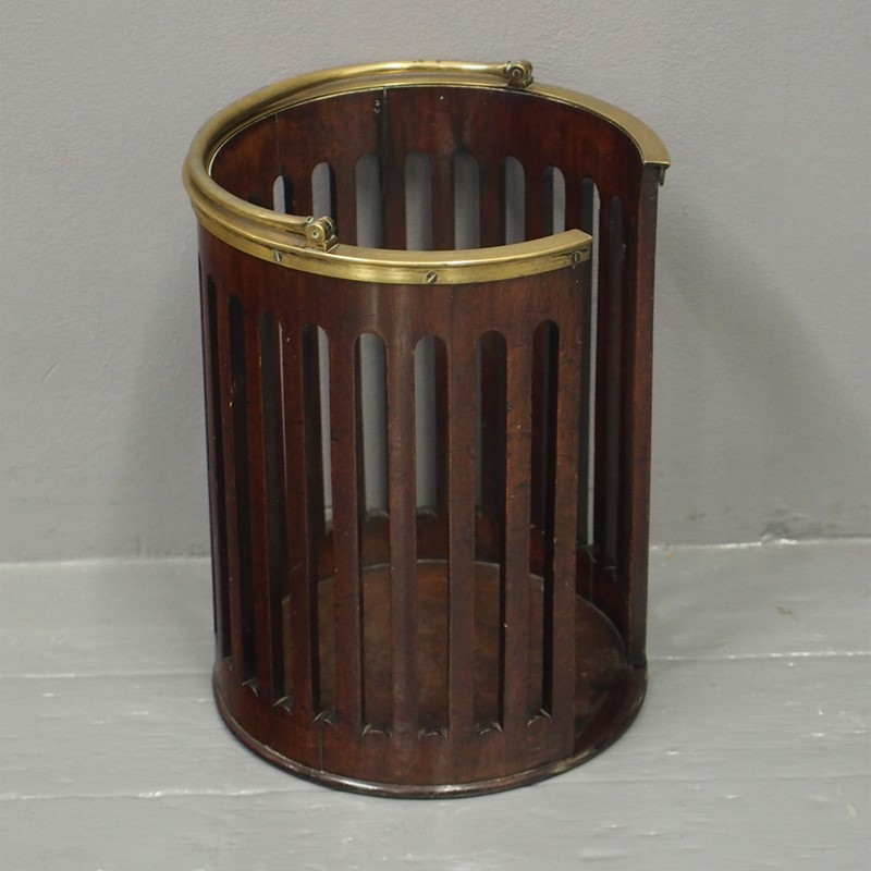 George III Mahogany and Brass Bound Plate Bucket-georgian-antiques-1-plate-bucket-main-637073466333083013.jpg