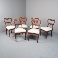 Antique Set of 6 Early Victorian Rosewood Chairs