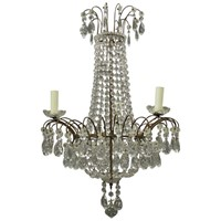 1930s Tent and Bag Cut Crystal Chandelier