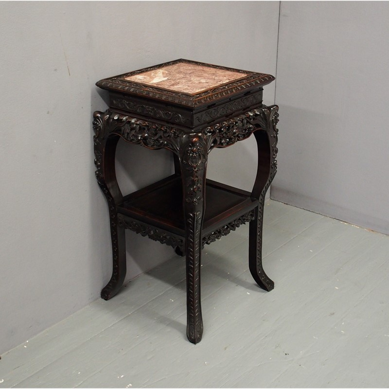 Chinese Carved Hardwood and Marble Plant Stand-georgian-antiques-1-table-main-637012966324687610.jpg