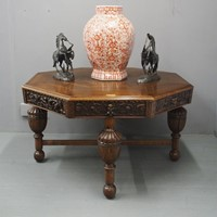 Oak Centre Table with Edinburgh Provenance