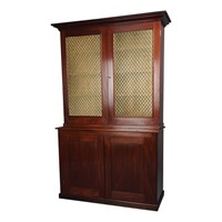 Antique Late George IV Mahogany Cabinet Bookcase