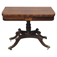 Scottish Regency Rosewood Card Table