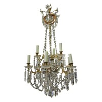 Victorian Cut Glass Chandelier