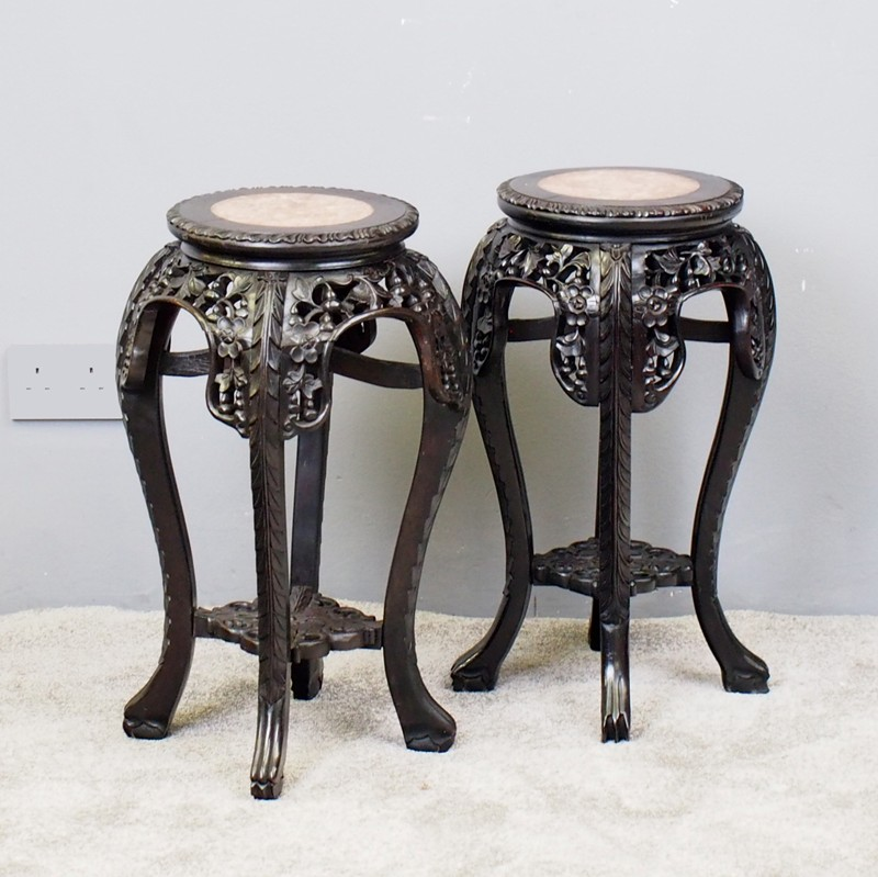 Pair of Neat Chinese Rosewood Plant Stands-georgian-antiques-1_Pair of stands-main-636734630102506372.jpg