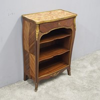 French Style Walnut Marble Top Cabinet