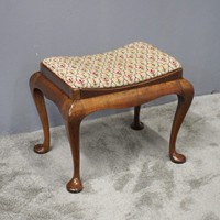 George III Style Walnut Saddle Top Stool