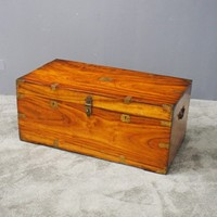 Camphor Wood Campaign Chest or Trunk