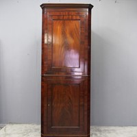 William IV Mahogany Double Corner Cupboard