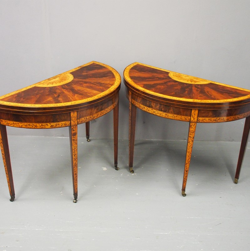 Pair of George III Mahogany Inlaid and Penwork Gam-georgian-antiques-1a-card-tables-main-637102825079427197.jpg