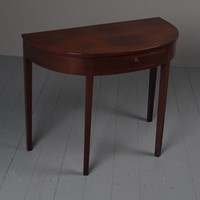 Antique Style Mahogany Demi Lune Side Table