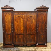 William IV Scottish Mahogany 4 Door Wardrobe