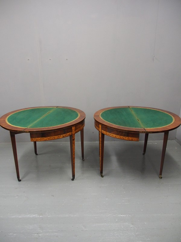Pair of George III Mahogany Inlaid and Penwork Gam-georgian-antiques-2-card-tables-main-637102825173333178.JPG