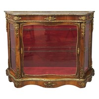 Victorian Yew Vitrine or Display Cabinet