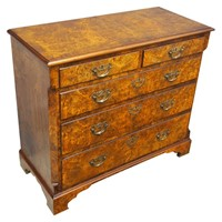 George III Figured Walnut Chest of Drawers