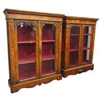 Matched Pair of Victorian Display Cabinets