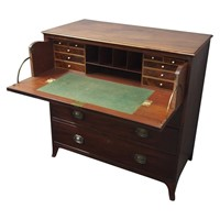 Inlaid Mahogany Secretaire Chest of Drawers