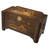 Antique Style Burmese Camphorwood Trunk