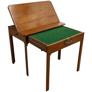 George III Figured Mahogany Architects Desk