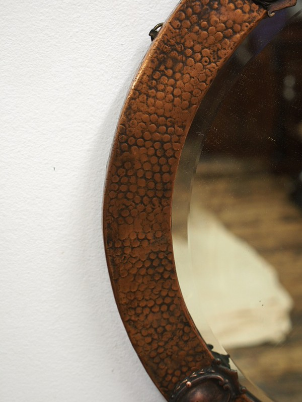 Copper Framed Circular Mirror-georgian-antiques-P1010326-main-636619011062425003.JPG