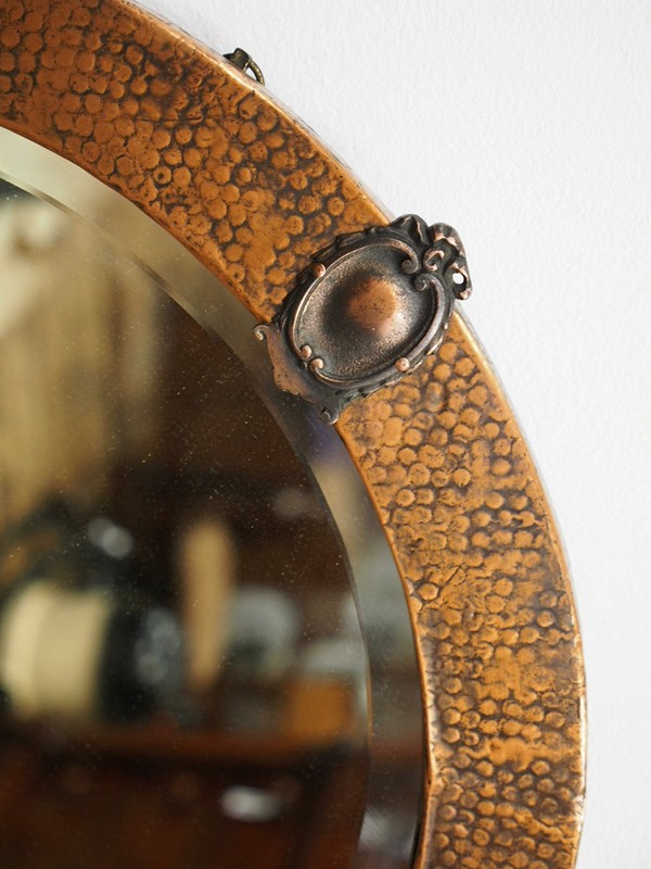 Copper Framed Circular Mirror-georgian-antiques-P1010327-main-636619011092690555.JPG