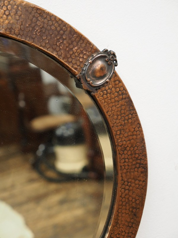 Copper Framed Circular Mirror-georgian-antiques-P1010328-main-636619011117339819.JPG