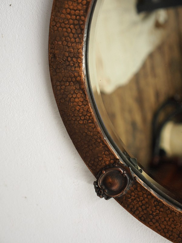 Copper Framed Circular Mirror-georgian-antiques-P1010329-main-636619011142457107.JPG