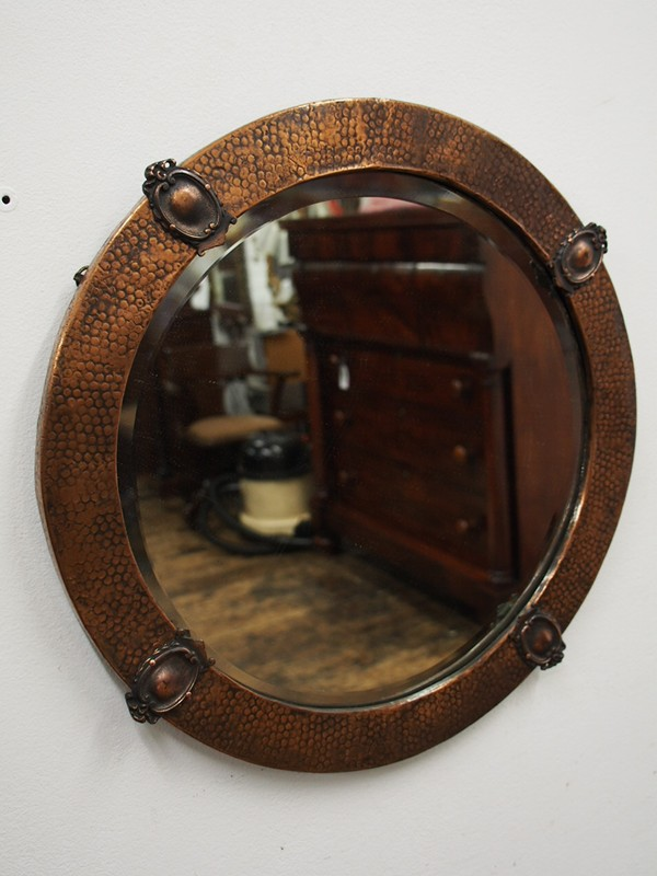 Copper Framed Circular Mirror-georgian-antiques-P1010330-main-636619011181927131.JPG
