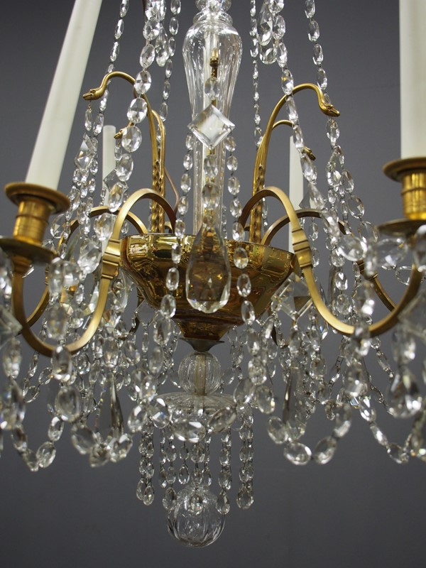 Large Gilt Brass and Glass Chandelier-georgian-antiques-P1010530-main-636776204127062969.JPG