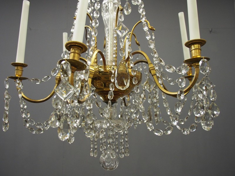 Large Gilt Brass and Glass Chandelier-georgian-antiques-P1010531-main-636776204197707464.JPG