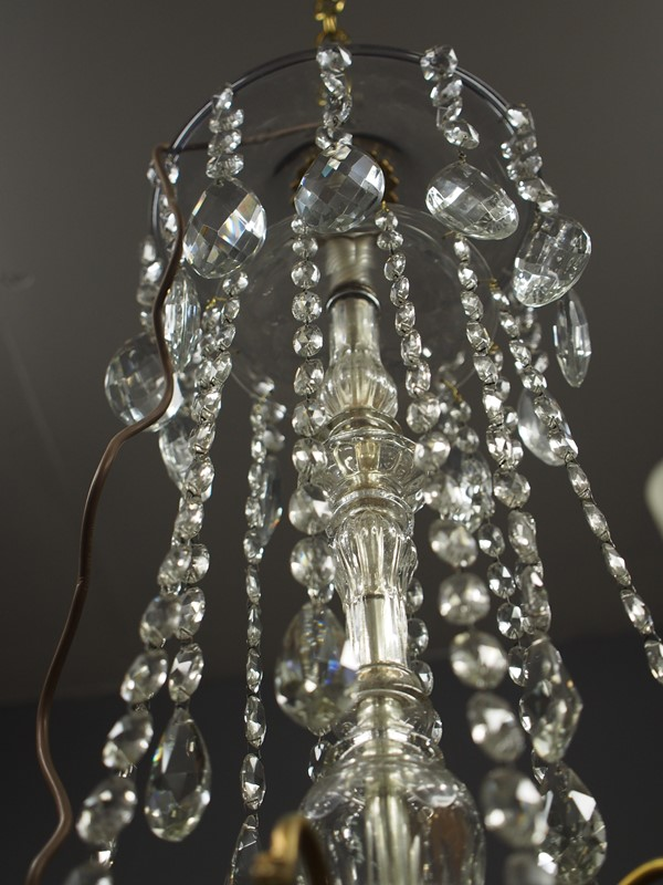 Large Gilt Brass and Glass Chandelier-georgian-antiques-P1010551-main-636776204740676650.JPG