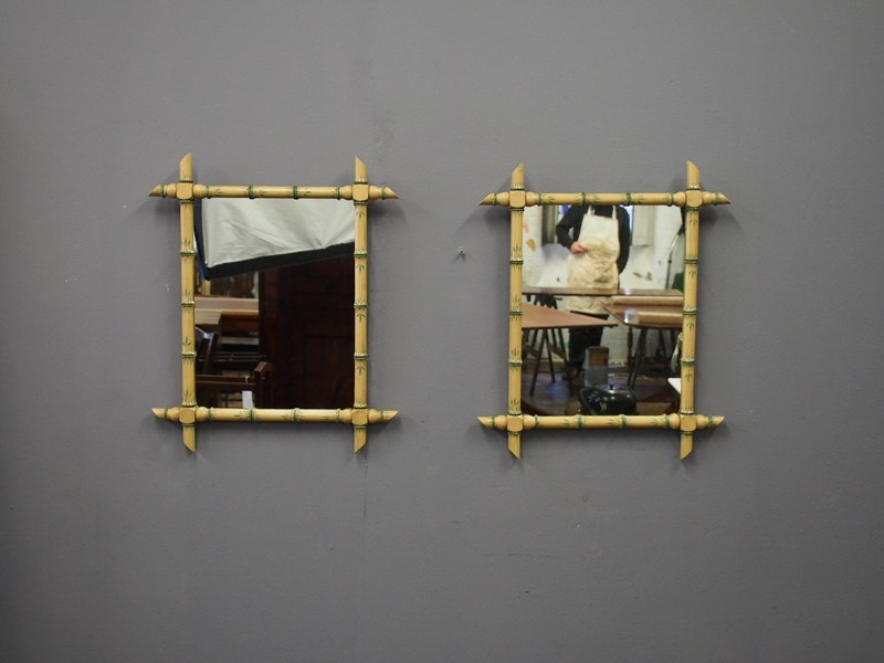 Pair of Faux Bamboo Wall Mirrors-georgian-antiques-P1011090-main-636776209081115563.JPG