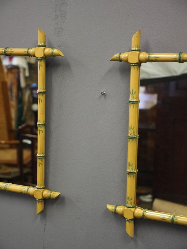 Pair of Faux Bamboo Wall Mirrors-georgian-antiques-P1011095-main-636776209150695629.JPG