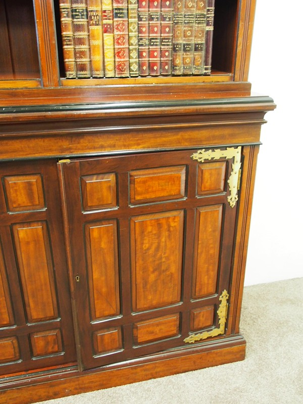 Arts and Crafts Mahogany Open Bookcase by W. Walke-georgian-antiques-P1250858-main-636613793591229015.JPG
